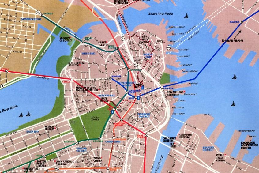 Map Boston, Massachusetts