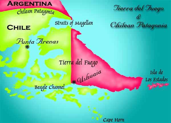 Tierra Del Fuego Map - Argentina map tierra del fuego